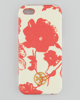Tory Burch Robinson Floral Hard Shell iPhone 5 Case, Orange Multi