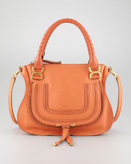 Chloe Marcie Medium Shoulder Bag, Suntan