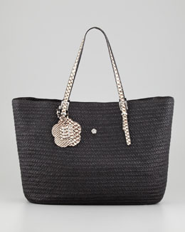 Eric Javits Jav III Squishee Tote Bag, Black/Bone