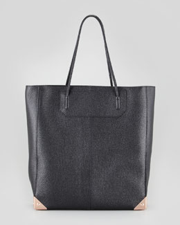 Alexander Wang Prisma Pebbled Leather Tote Bag, Black