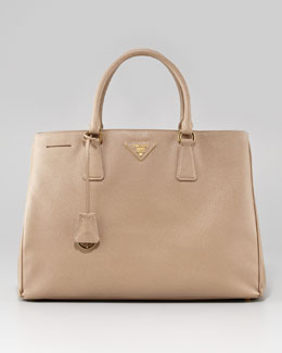 Prada Medium Gardner's Tote Bag, Beige