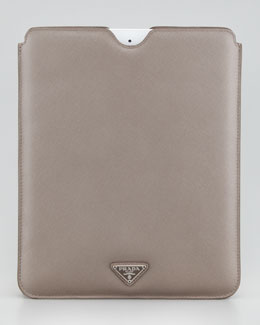 Prada iPad Sleeve, Medium Gray