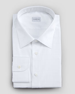 Ermenegildo Zegna Windowpane Button-Down Shirt