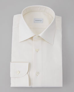 Ermenegildo Zegna Twill Dress Shirt, Cream