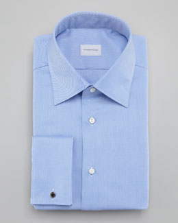 Ermenegildo Zegna Solid Twill Dress Shirt
