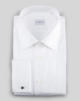 Ermenegildo Zegna Herringbone Stripe Button-Down Shirt