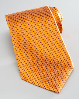Ermenegildo Zegna Micro-Circles Silk Tie, Orange