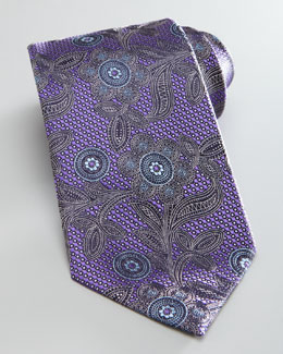 Ermenegildo Zegna Flower Tie, Purple