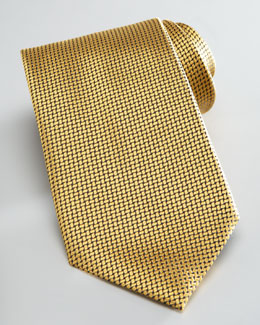 Ermenegildo Zegna Textured Solid Tie, Yellow