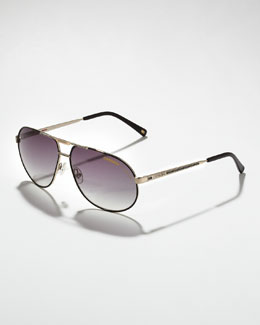 Carrera Master 2 Aviator Sunglasses, Golden/Black