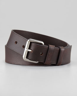 Prada Casual Leather Belt, Brown