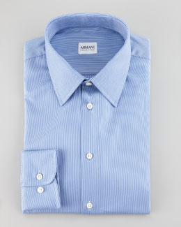 Armani Collezioni Narrow Rope Stripe Shirt, Blue