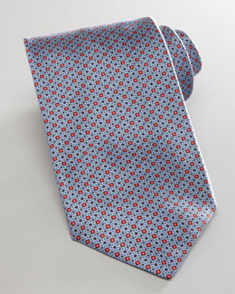 Brioni Micro-Dot Tie, Red
