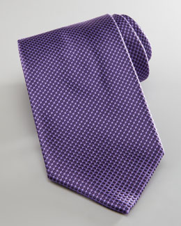 Brioni Dotted Silk Tie, Purple