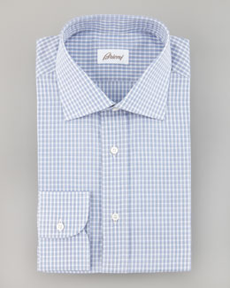 Brioni Small-Check Shirt