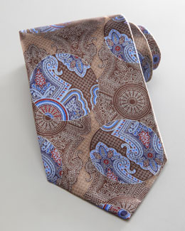 Ermenegildo Zegna Floating Fantasy Silk Tie