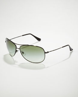 Ray Ban Bubble Aviator Sunglasses, Black
