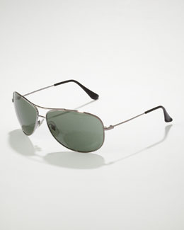 Ray Ban Bubble Aviator Sunglasses, Gunmetal