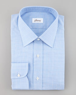 Brioni Mini Plaid Shirt