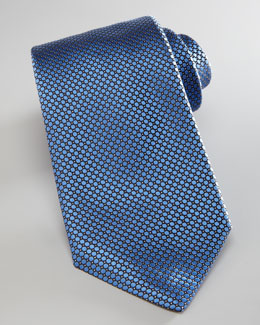 Ermenegildo Zegna Wide Circles Textured Tie, Light Blue