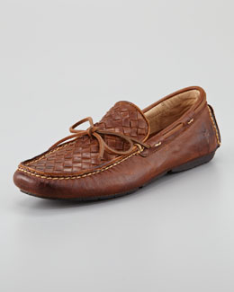 Frye West Woven Leather Driver