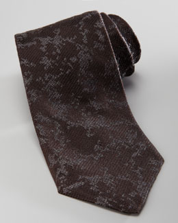 Armani Collezioni Abstract Silk Tie, Black