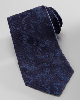 Armani Collezioni Abstract Silk Tie, Navy