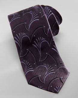 Armani Collezioni Abstract Paisley-Jacquard Tie, Dark Purple