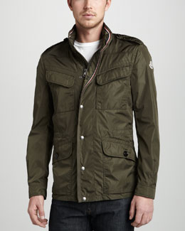 Moncler Tipped Field Jacket, Olive
