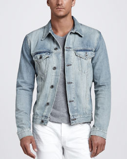 J Brand Ready to Wear Owen Light Wash Denim Jacket