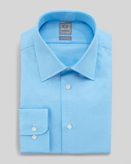 Ike Behar Solid Textured Dress Shirt, Aqua