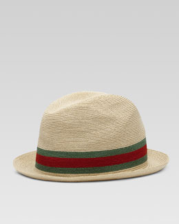 Gucci Fedora Straw Hat