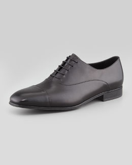Salvatore Ferragamo Fantino Cap-Toe Oxford, Black