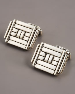 John Hardy Bedeg Rectangular Cuff Links