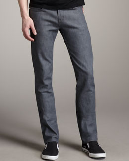 Naked and Famous Denim SkinnyGuy Gray Stretch Jeans