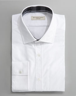Burberry Tonal-Check Dress Shirt, White