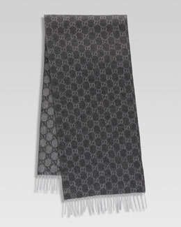 Gucci Interlocking GG Scarf with Fringe