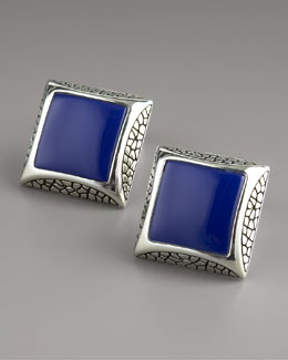Stephen Webster Square Lapis Cuff Links