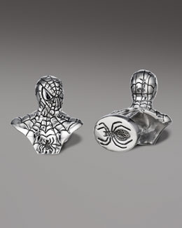 Robin Rotenier Spiderman Bust Cuff Links