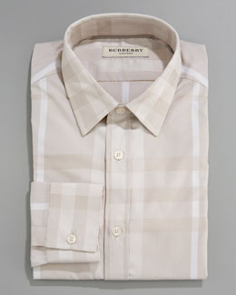 Burberry Tonal Check Dress Shirt, Trench