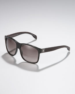 Alexander McQueen Wood-Arm Sunglasses
