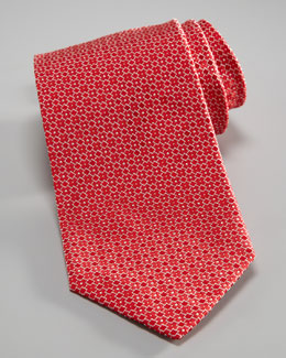 Armani Collezioni Fancy Geometric Tie, Red