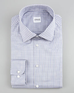 Armani Collezioni Check Dress Shirt, Purple, Modern Fit