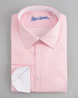 Robert Graham Alfie Striped Dress Shirt, Pink/White