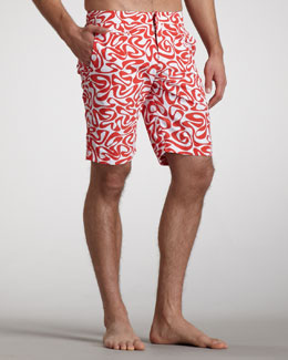 Orlebar Brown Dane Water-Print Boardshorts