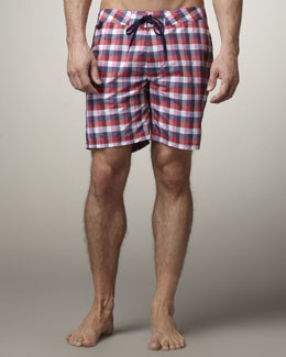 Sundek Rainbow Plaid Swim Trunks