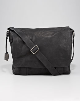 Frye Logan Leather Messenger Bag, Black