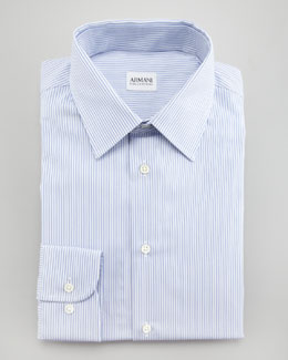 Armani Collezioni Striped Dress Shirt, Modern Fit