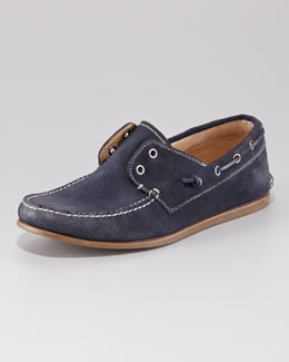 John Varvatos Star USA Schooner Boat Shoe, Officer Blue