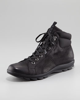 Prada Nubuck Leather Hiker Boot